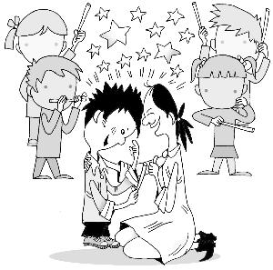 动漫 简笔画 卡通 漫画 手绘 头像 线稿 300_297